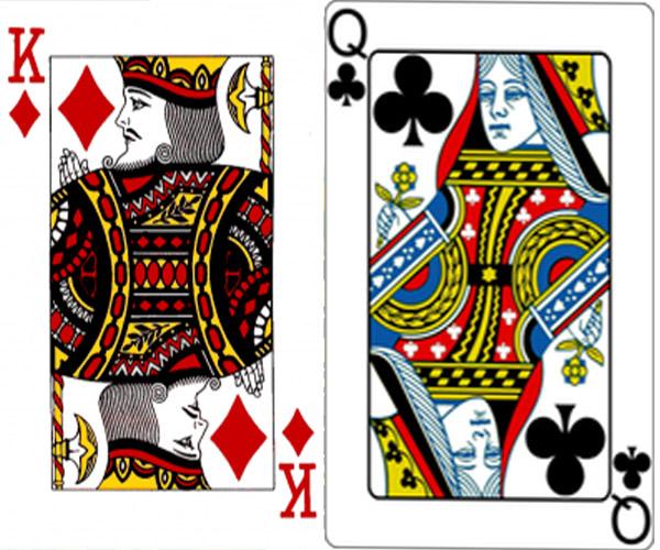 карты дама король